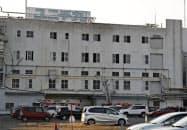 火災が発生した「ユニチカ宇治事業所」の工場(8日、京都府宇治市)=共同