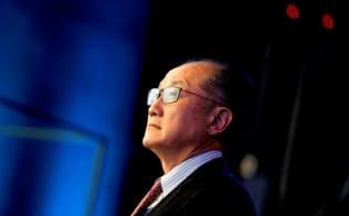 2018年11月、北京で開かれたイベントに参加したキム世銀総裁=ロイター