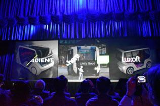 LG電子はCESの基調講演で、パートナーと協力して自動運転車の開発に注力していると表明した