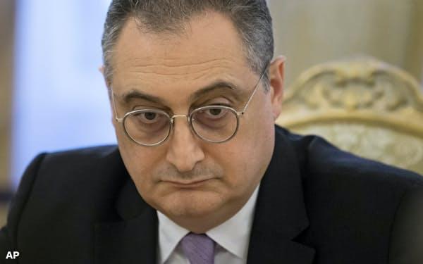 平和条約交渉の実務を担うロシアのモルグロフ外務次官=AP