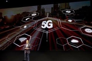 米国LGの記者会見に登壇したデビッド・バンダーワール上級副社長。5Gに言及したが、具体的な発表はなかった