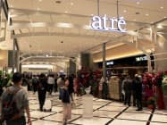 アトレの海外1号店となる台北の店舗(10日、台北・信義区)
