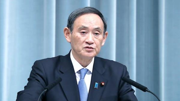 菅氏「日本へ責任転嫁」 徴用工巡る大統領発言に不快感