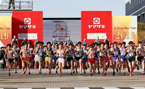 日清食品グループ陸上競技部はチームとして駅伝大会に出場しないことを決めた=共同