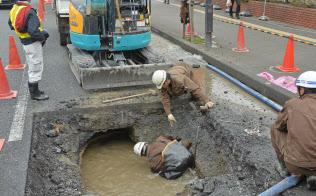 老朽水道管の漏水事故(大阪市)