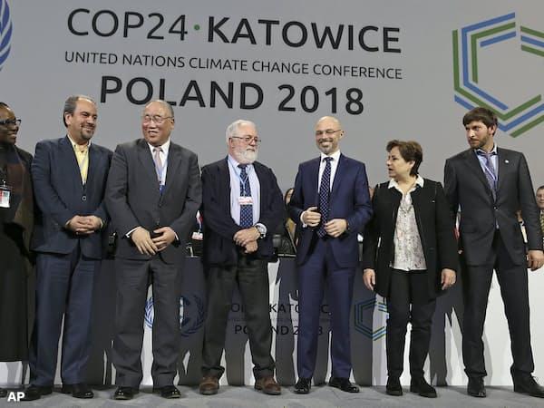 COP24でもカーボンプライシングが話題に(2018年12月、ポーランド)=AP