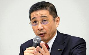 日産の西川広人社長兼CEO=AP