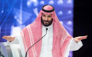 2018年10月下旬にサウジアラビアが開いた国際会議にはムハンマド皇太子が出席したものの、外国要人などの欠席が目立った(リヤド)=ロイター