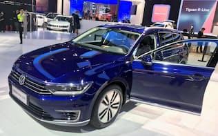 中国の新車販売は2018年に28年ぶりに減少に転じた(18年11月、広州モーターショー)