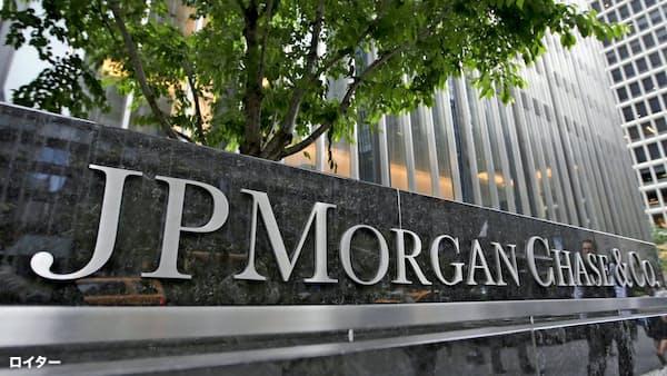 JPモルガン67%増益 10~12月期、ウェルズは減収減益