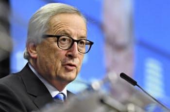 ユンケル欧州委員長(2018年12月14日、ブリュッセル)=AP