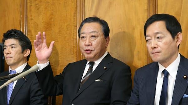 野田前首相ら7人が新会派 社会保障の立て直し訴え
