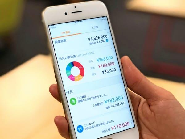 家計簿アプリや法人向け会計サービスに大きく投資する