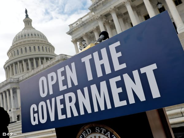 米国政府機関の一部閉鎖が過去最長に突入し、米国経済に波紋が広がっている=ロイター