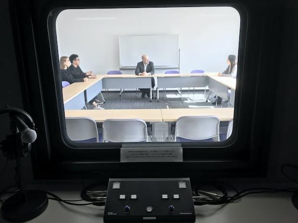 18年11月設立の京都国際調停センターは同時通訳設備を整備(京都市上京区)
