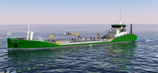 建造予定の電動タンカーのイメージ図