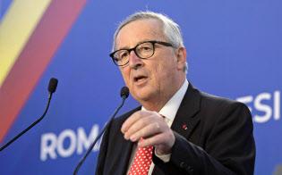 EUでは英離脱の延期を容認する声が広がる(ユンケル欧州委員長)=ロイター