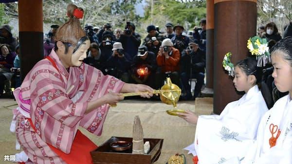 豊作祈り「天野の御田祭」 和歌山・丹生都比売神社