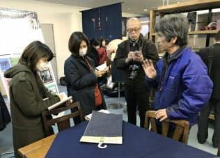 坂本デニム(広島県福山市)で備後デニムについて学ぶ見学会参加者
