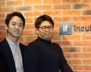 レグミンを共同創業した成勢卓裕氏(左)と野毛慶弘氏(右)。