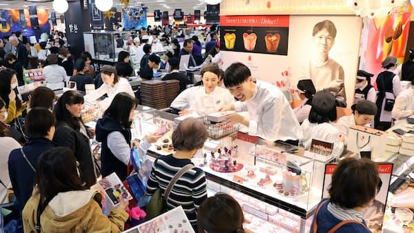 バレンタイン商戦日本一の百貨店、1カ月で20億円超