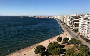 ギリシャ北部テッサロニキはバルカン半島の入り口に位置する要衝だ(15日)