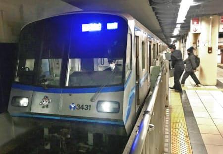 延伸区間は直線距離で約6キロメートルだ(横浜市営地下鉄ブルーライン関内駅)