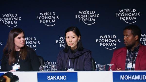 ダボス会議共同議長の坂野さん 循環型社会訴える
