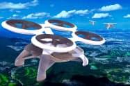 将来的に「空飛ぶタクシー」を使ったツアーの開発を目指す(写真は経産省の定義に基づくイメージ)