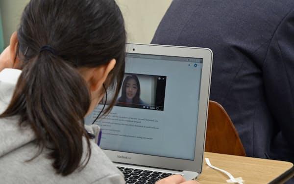 キャタルは外国人がオンラインで英文の書き方を教えるサービスを始めた(東京・千代田の武蔵野大学付属千代田高等学院)