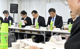 海賊版対策などについて話し合う文化審議会著作権分科会(1月、東京都港区)