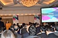 台湾の科学技術部は都内で説明会を開いた(23日、東京都千代田区)