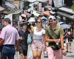 京都市東山区を訪れた外国人観光客(2018年7月)
