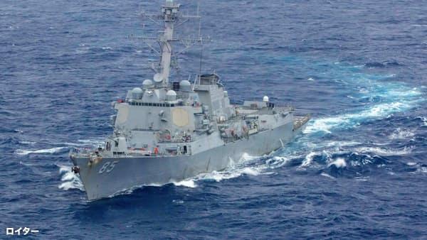 米軍艦が台湾海峡通過 中国けん制か