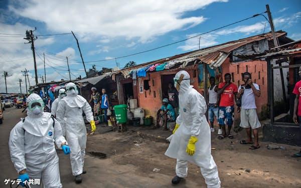 2014年にアフリカで流行したエボラ出血熱は多数の死者を出した=ゲッティ共同