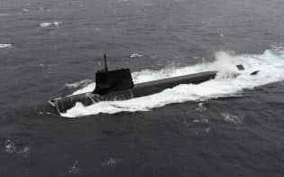 海上自衛隊の潜水艦そうりゅう=海上自衛隊提供・ロイター