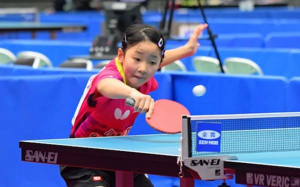 小4で初出場した全日本選手権の女子シングルスで2勝、女子ジュニアでは3勝を挙げた張本美和