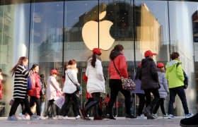 中国経済の減速が米アップルの業績に響いている(北京のアップルストア)