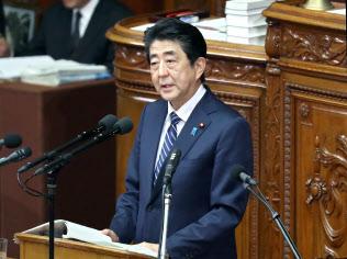 衆院本会議で立民・枝野代表の質問に答える安倍首相(30日)