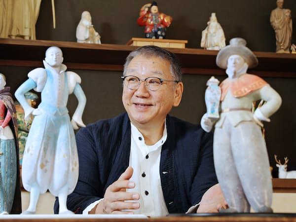 博多人形師の中村信喬さん