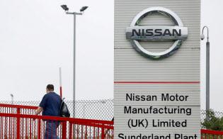 日産は英国での自動車生産台数が外国メーカーで最大(英北部サンダーランドの工場)=ロイター
