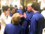 2017年1月、ベトナムのダナンで開いたアジア太平洋経済協力会議(APEC)首脳会議に参加したトランプ米大統領(右から2人目)ら=ロイター