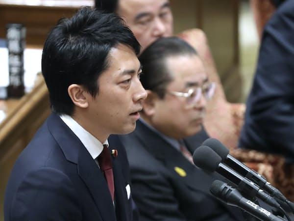 衆院予算委で質問する自民党の小泉進次郎氏(2月4日午前)