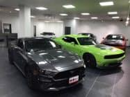 日本国内では手に入りにくい米国からの直輸入車を販売する(兵庫県尼崎市)