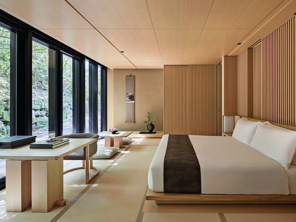 日本の旅館をコンセプトにした客室