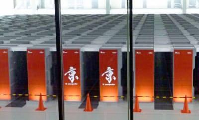 スーパーコンピューター「京」(神戸市)=共同