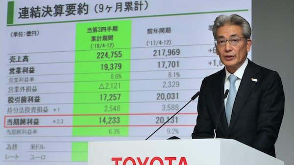 トヨタ執行役員「競争力を左右する減益ではない」