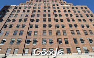 投資を急増させているグーグルのニューヨーク・マンハッタンにあるオフィス=ロイター