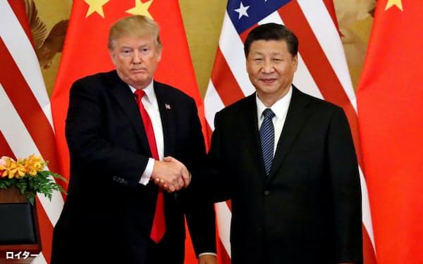 習氏はトランプ氏の訪越の機会をいかして首脳会談を探る(2017年11月、北京)=ロイター
