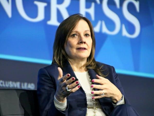 GMのバーラCEOは北米でリストラに取り組む(1月、米デトロイト)